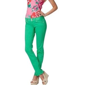 Lilly Pulitzer | Worth Jeans Straight Kelly Green